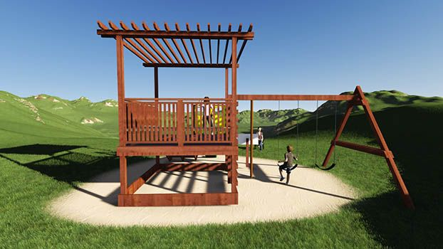 9 Best Images About Swing Set Plans On Pinterest Storage
