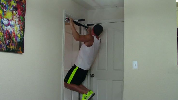 I have one of those! You hang them on top of the door and poof!  You have a pull up station!