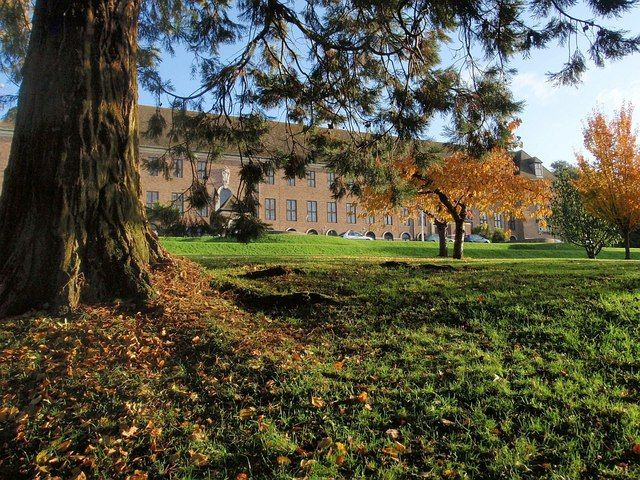 The University of Exeter - View of Washington Singer. Photo from Wikipedia, by Derek Harper