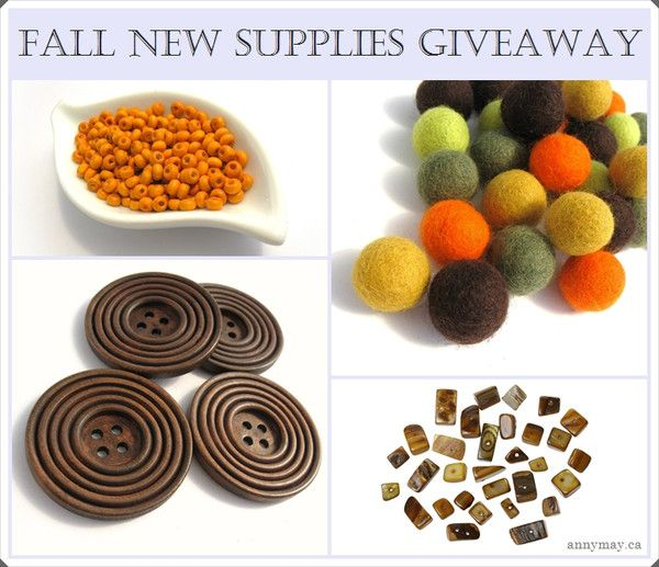 AnnyMay Craft Supplies Fall Giveaway  Ending October 1th