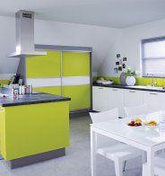 Cuisine verte et blanche, Ikea - Marie Claire Maison
