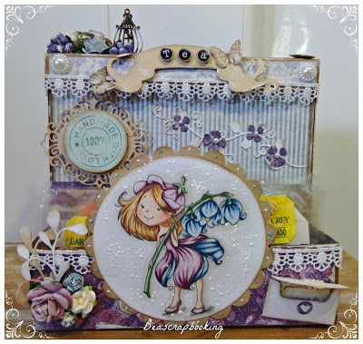 """beascrapbooking: CRAFTY SENTIMENTS DESIGNS CHALLENGE Nº24: """"ANYTHING GOES""""-CAJA PARA TE"""