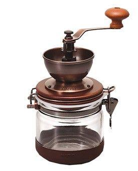 Hario Canister Kaffeemühle mit Keramikmahlwerk, ca. 52 Euro
