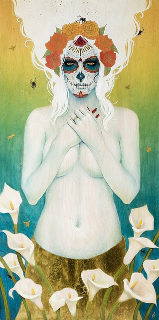"""hauntingly beautiful, Sylvia Ji's, """"White Widow"""" (sorry could not pin from the artists site)."""