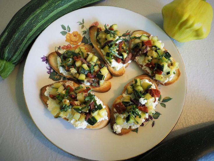 Mediterranean zucchini bruschetta