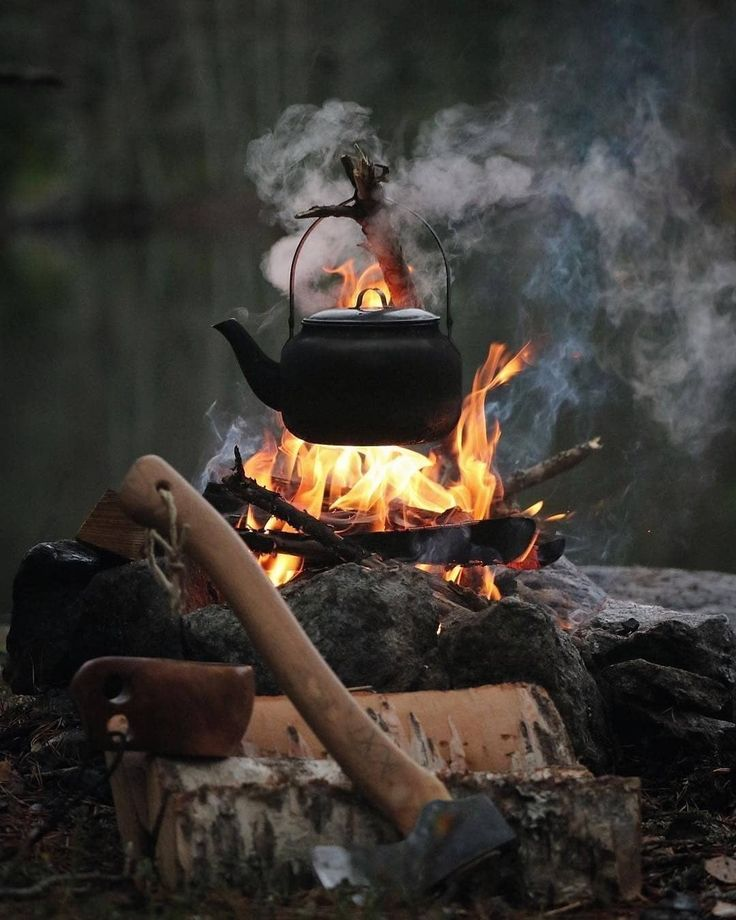 """Global Outdoor Survival Club on Instagram: """"The best part about surviving outdoors in winters is campfire and cooking on it 🔥☕ you can say we're obsessed 😅 @globaloutdoorsurvivalclub…"""""""