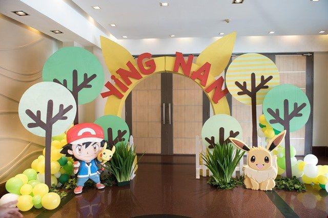 Ying Nan's Pokemon Themed Party – Entrance