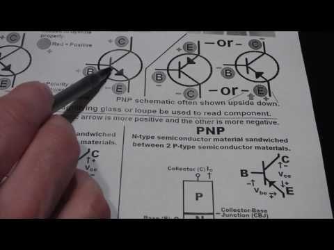 BJTs1 bipolar junction transistor basics TO92 NPN PNP collector base emi...