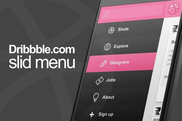 gradient menu