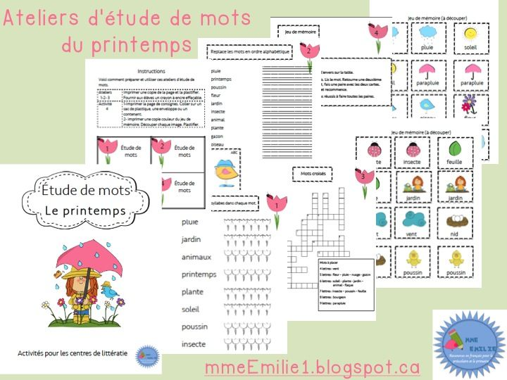 Best 33 Littératie images on Pinterest Activities, Core french and
