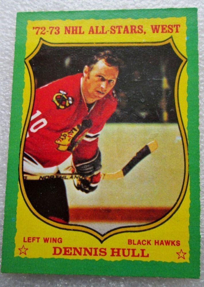 ORIGINAL O PEE CHEE 1973-74 DENNIS HULL WEST ALL-STARS CARD! HALL OF FAMER ex-nm #OPC #ChicagoBlackhawks