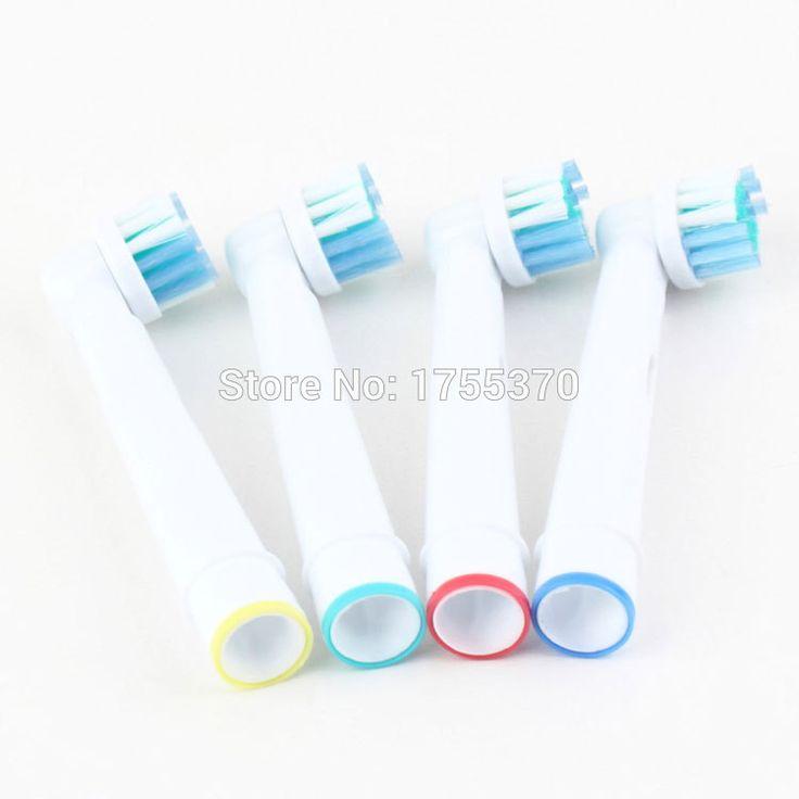 4 Adet Ağız Hijyeni Ürün yumuşak kıllar SB-17A Döner elektrikli diş fır…