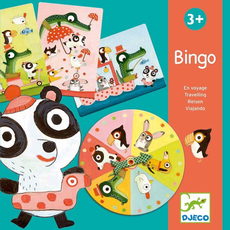 Le jeu de société Bingo de Djeco est un jeu qui ressemble au loto. Les joueurs doivent remettre tous les animaux sur leurs cartes en premier pour gagner.