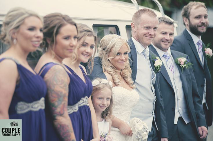 The bridal party. Weddings at Rathsallagh House Hotel by Couple Photography.