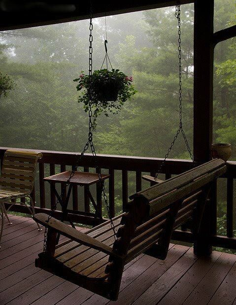 Reminds me of the wraparound porch and swing where I grew up. Loved to read here in the rain.