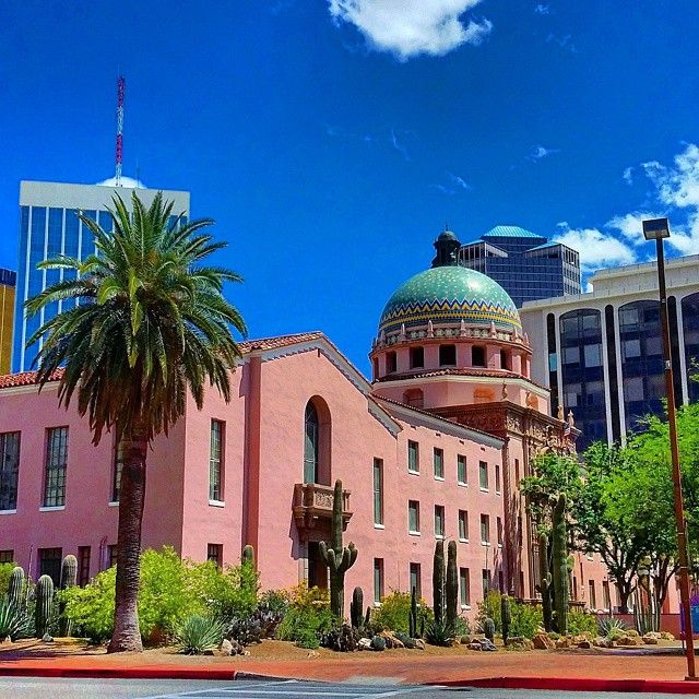 Pima County Courthouse, In Downtown Tucson, Arizona, Is