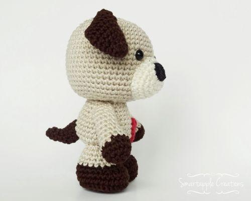 Sammy the Puppy amigurumi crochet pattern by Smartapple Creations