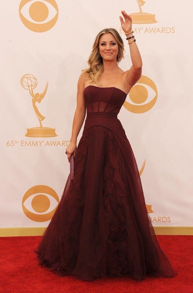 Kaley Couco - Vera Wang (Emmys 2013)