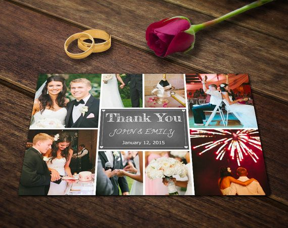 Wedding Thank You Cards Hey, I found this really awesome Etsy listing at https://www.etsy.com/listing/192449164/wedding-thank-you-card-template