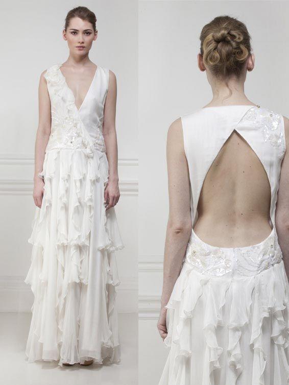 Matthew Williamson wedding dress - ruffle chic
