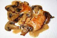 курица с грибами тушеная в вине