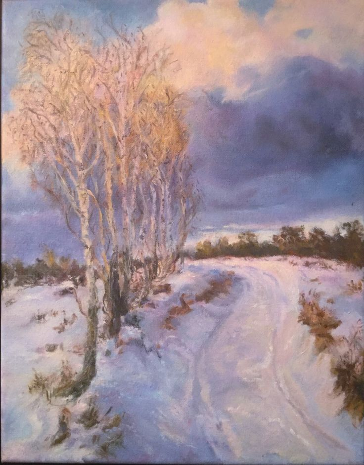 Winter+Storm+oil+painting+by+RubySalonOilPainting+on+Etsy