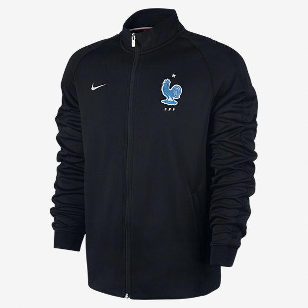 maillot noir equipe de france football veste