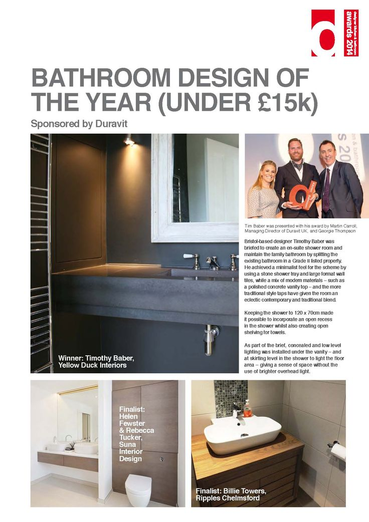 Bathroom Design Of The Year Under 15k DesignerAwards14 DesignerKBmag