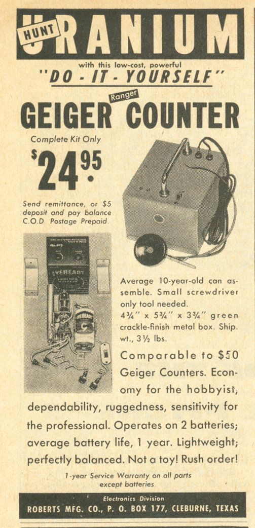 Have a DIY Uranium hunt with your very own Geiger Counter, 1955 (via VintageAmerica Flickr). Tumblr