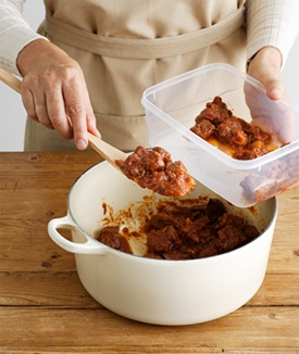 When cooking a healthy family meal, make a double batch and use the leftovers for lunches or dinner later in the week. #EncourageAMom