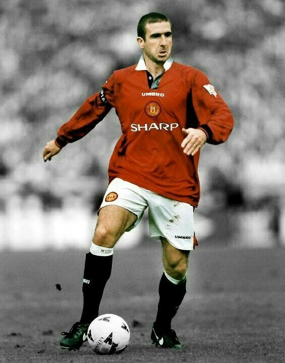 Eric Cantona of Man Utd in 1996.