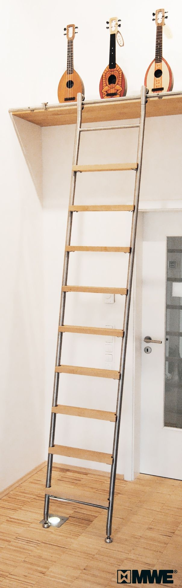 Delightful VARIO Library Ladder Manufactured By MWE / Designed By Mario Wille /  Www.mwe.