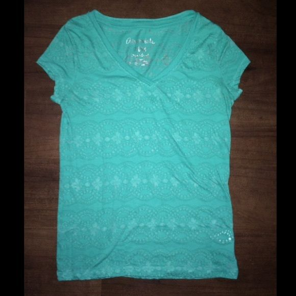 flower print turquoise shirt from Aeropostale good shirt never really wore it that often. Aeropostale Tops