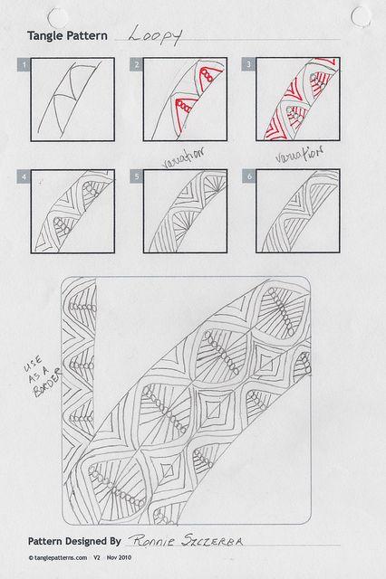 Zentangle Pattern: Loopy via Flickr