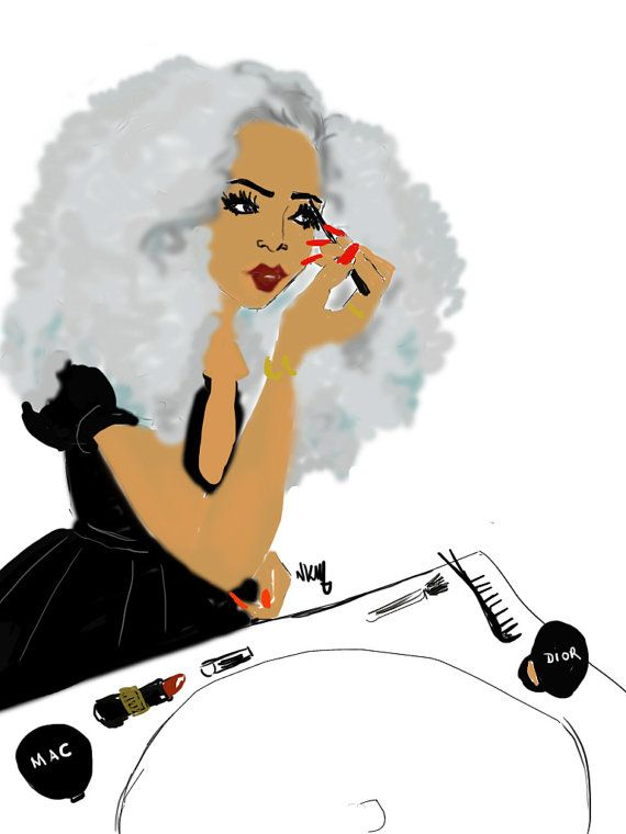 Black girls x make up par Nikisgroove sur Etsy