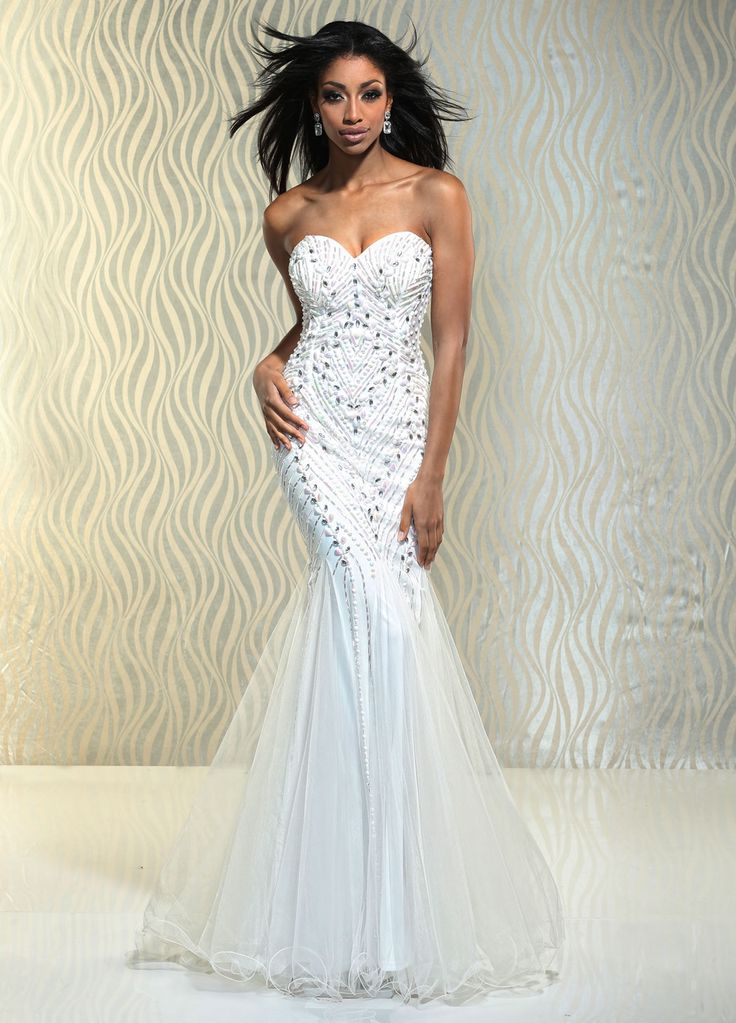 14 best Mermaid White images on Pinterest | Party wear dresses ...