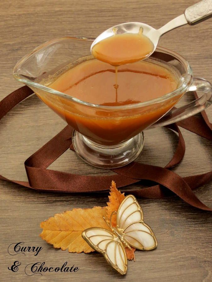 Salsa toffee o de caramelo con mantequilla  - Butter toffee sauce