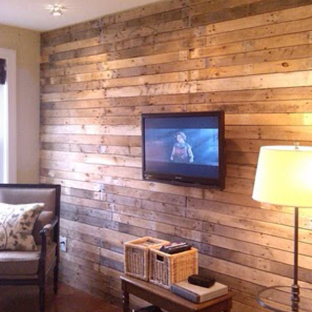 Wood accent wall great ideas pinterest for Amazing options for accent wall ideas