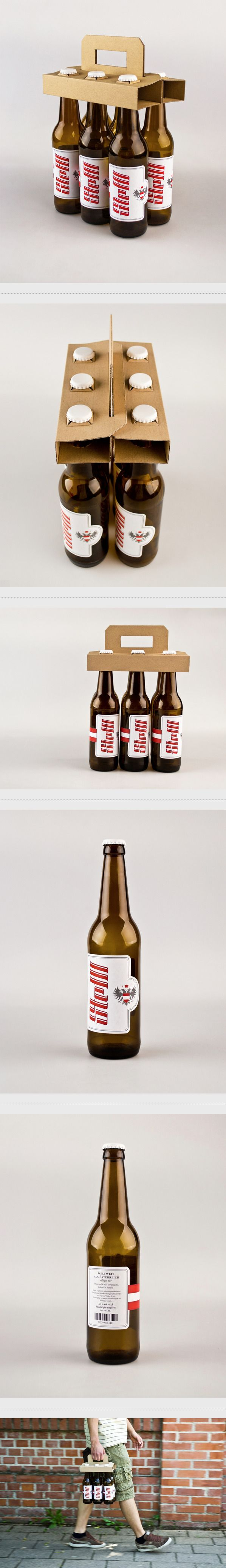 Steffl label & package design by Renato Molnar, via Behance