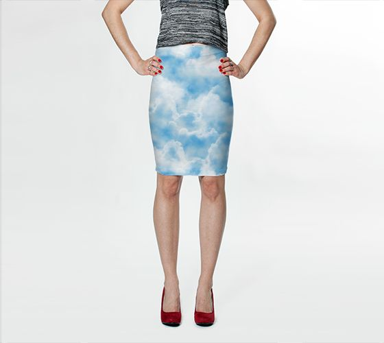 Cloud Bodycon Skirt - Available Here: http://artofwhere.com/shop/product/41685