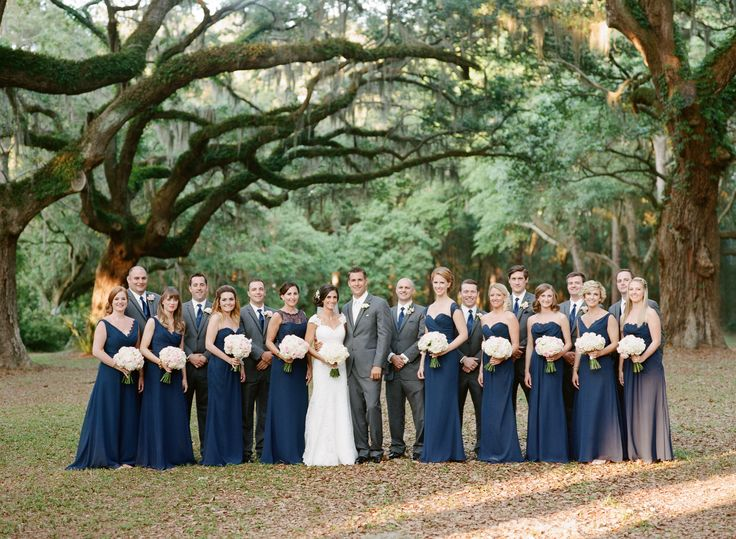 Charcoal Gray Suits With Navy Tie Groomsmen Attire
