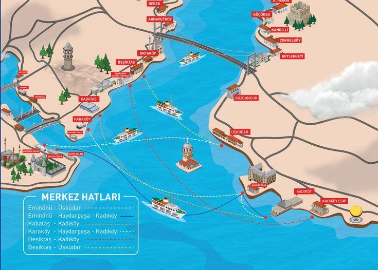 Map of Istanbul Metrobus IETTnetwork