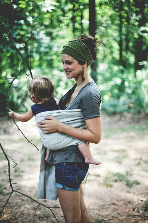 Hiking with baby.