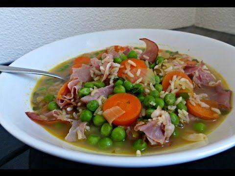 Recept: Maaltijdsoep met Doperwten, Wortel en Rijst