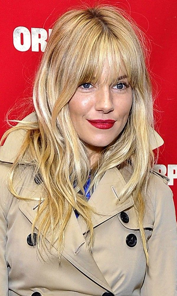Sienna Miller with blonde hairstyle