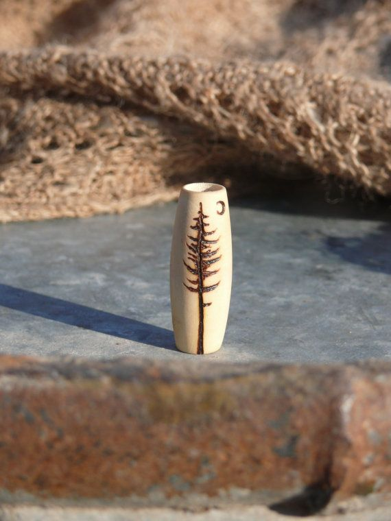 Beauty in the moonlight  pine tree bead  by HeadstrongHippie