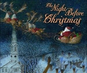 "twas the night before christmas book.  A new one a year (I have always wanted to collect ""Twas the Night Before Christmas books."""