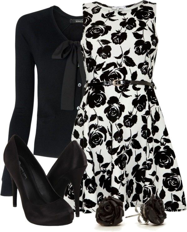 """""""Black & White on a Budget"""" by qtpiekelso on Polyvore"""
