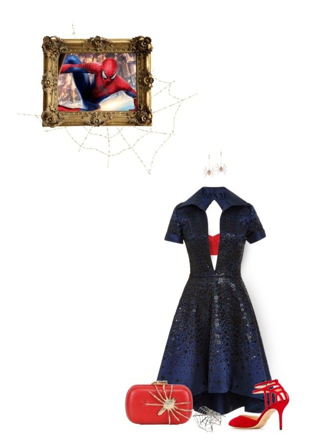 """""""formal spider-man looks"""" by sashayed ❤ liked on Polyvore featuring McQ by Alexander McQueen, Zimmermann, Naeem Khan, Charlotte Olympia, Sidney Chung, Corto Moltedo, Bernard Delettrez and marvel"""