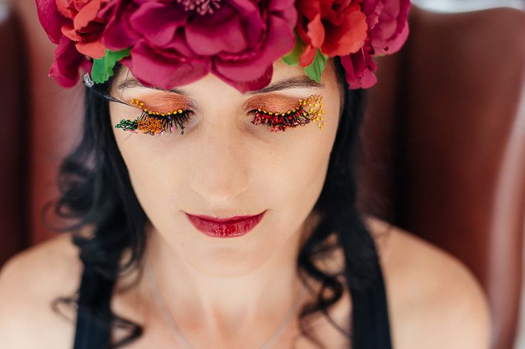 Autumn Inspired lashart and make-up done by Clarita smit www.claritasmit.co.za
